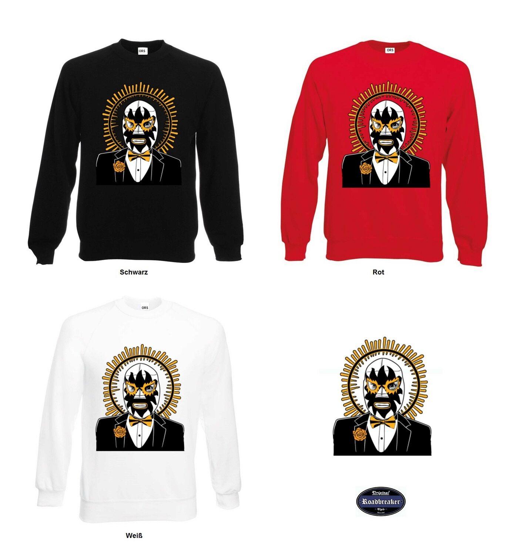 Sweatshirt mit einem Gothik-, Tattoomotiv in 3 Farbtönen Modell Mexican Mask