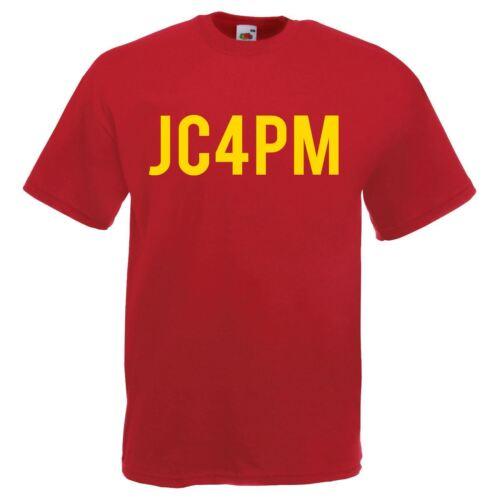 Mens Red JC4PM Jeremy Corbyn Labour Political Party Leader T-Shirt