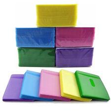 100Pcs DVD CD Double Sided Cover Storage Case Plastic Bag Sleeve Envelope Holder