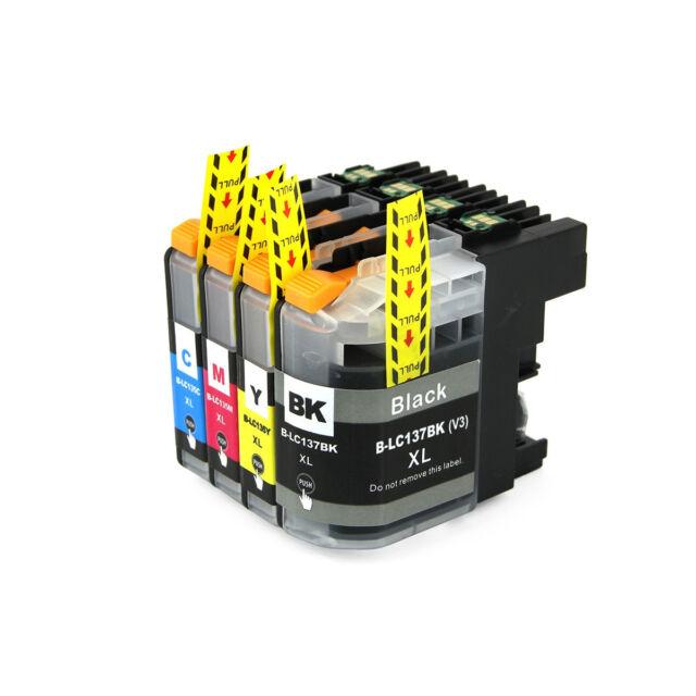 4x Ink Cartridge LC137 XL BK LC135 XL for Brother MFC-J4410DW J4510DW MFCJ4710DW
