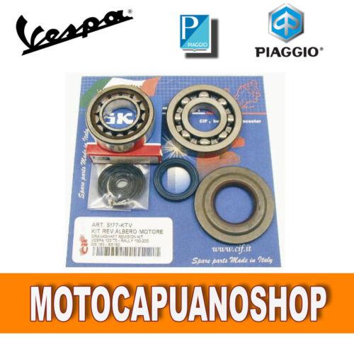 KIT REVISIONE CUSCINETTI PARAOLI ALBERO MOTORE VESPA 125 PX T5-150 GS