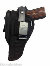 Gun Holster fits Dan Wesson 1911 | Pro-Tech Outdoors Black Nylon OWB | WSB-15