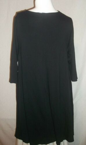 NEW BOUTIQUE WOMANS PLUS SIZE 0X 1X 2X 3X SWING DRESS W//LACE UP NECK/& 3//4 SLEEVE