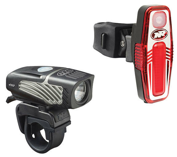 NiteRider Lumina Micro 450 LED Bike Bicycle Headlight + Sabre 50 Taillight USB
