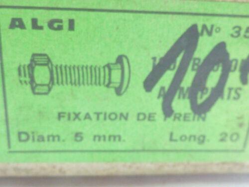 ALGI 2 vis M5 tête bombée à meplat velo Peugeot motobecane pliable randonneur