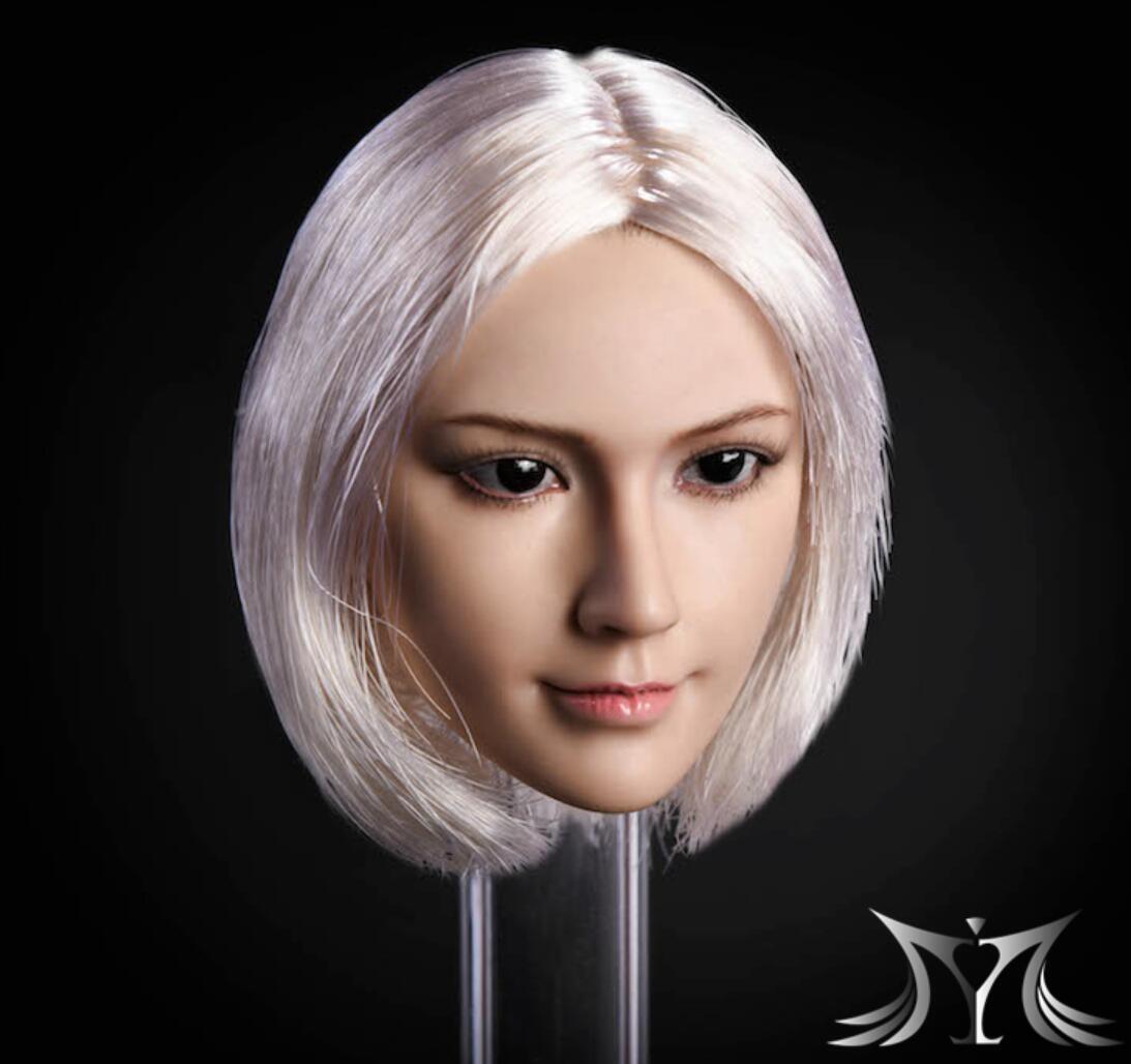 1 6 Female Head Head Head Sculpt WHITE HAIR For 12  PHICEN VERYCOOL Hot Toys Figure  USA  e7130d