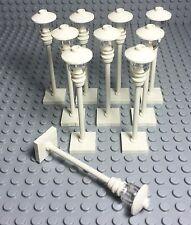 Lego X10 New MOC / Custom City Modular Street White Light / Lamp post Bulk Lot
