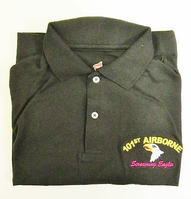 "101ST AIRBORNE DIVISION/""SCREAMING EAGLES/"" EMBROIDERED LIGHTWEIGHT POLO SHIRT"
