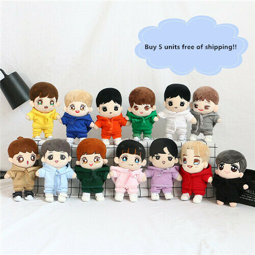 Hand-made Kpop EXO Wanna one Se Hun Doll Clothes Hoodie Stuffed Set Suit Gift