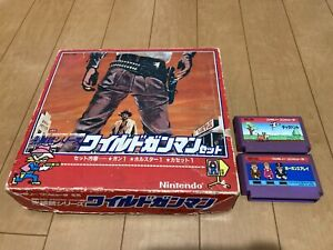 Nintendo-Famicom-WILD-GUNMAN-Controller-amp-Holster-with-BOX-and-3-Games
