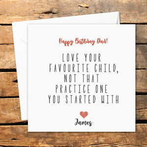 Image Is Loading Personalised Handmade Happy Birthday Mum Card Dad