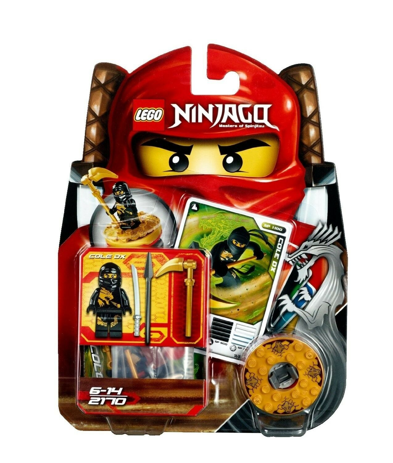 LEGO NINJAGO 2170 COLE DX BRAND NEW DATED 2011