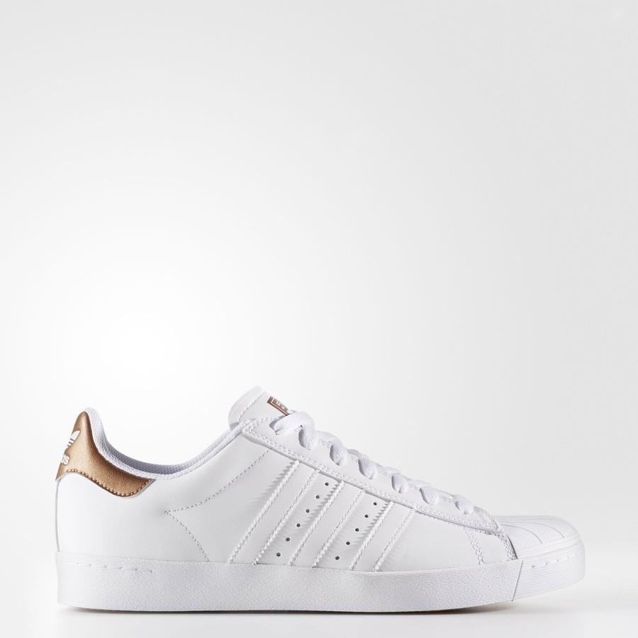 Adidas Superstar Vulc ADV Skateboard Shoes (White/Copper)