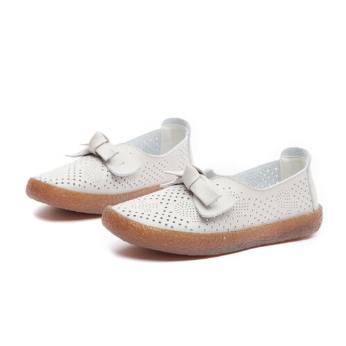 Details about  /Womens Faux Leather Hollow Nurse Flats Shoes Slip On Soft Loafers Casual Fgg66