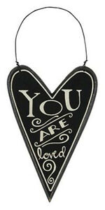 Primitives-by-Kathy-23285-heart-chalk-art-ornament-034-You-are-Loved-034