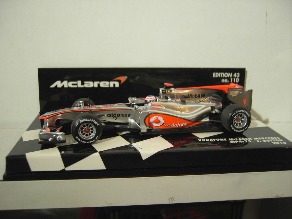 F1 McLAREN MERCEDES MP4-25 BUTTON 2010 VODAFONE 1 43 MINICHAMPS 530104301