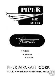 PIPER-PA-25-PAWNEE-CROPSPRAYER-PARTS-CATALOG-1967
