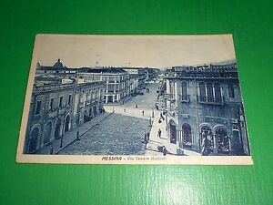 Cartolina Messina - Via Cesare Battisti 1930 - Italia - Cartolina Messina - Via Cesare Battisti 1930 - Italia
