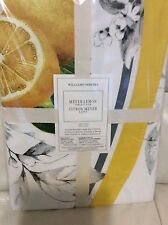 Williams Sonoma Meyer Lemon Tablecloth 70 Round Spring Summer Fruit NWT! Yellow