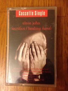 Original-Single-Cassette-Tape-Elton-John-Sacrifice-Healing-Hands