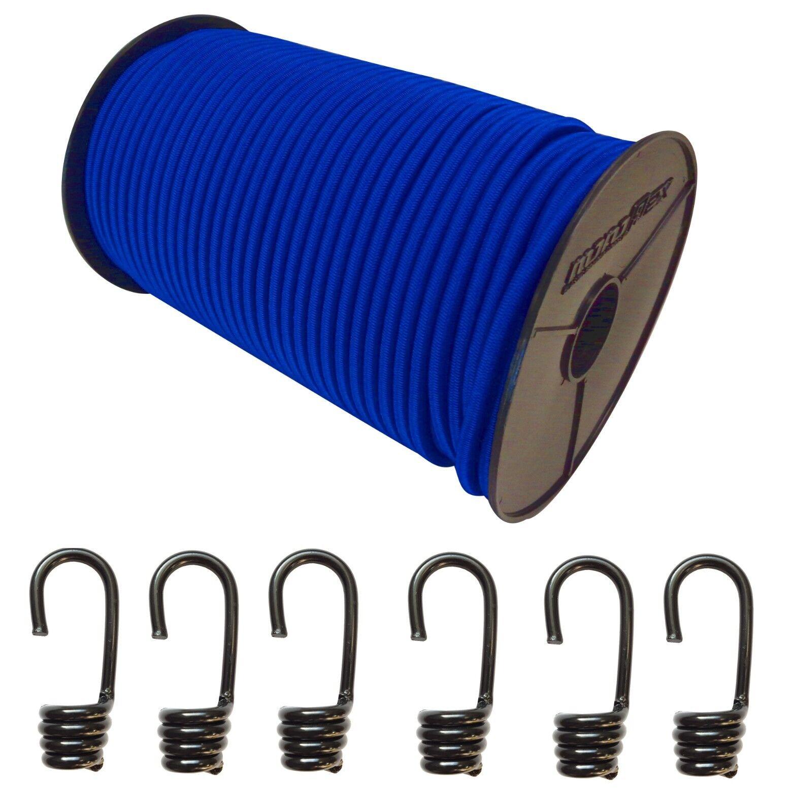 Expanderseil Gummiseil Gummiseil Gummiseil Gummileine Planenseil Seil Plane in Blau + Spiralhaken 54d0d9