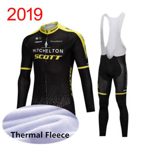 Cycling Jerseys Long Bib Bike Winter Warm Fleece Shirt Scott Thermal Jacket Coat