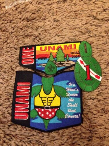 Mint 2004 Noac 3 Piece Set Unami Lodge 1 Black Border