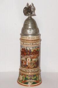 Age-Reservist-Jug-Far-45-Lauenburg-Rendsburg-Jug-Beer-Mug-Cannon-Schiessbar