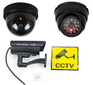Dummy Surveillance CCTV Security Dome Camera with False Red Light Flashing USA