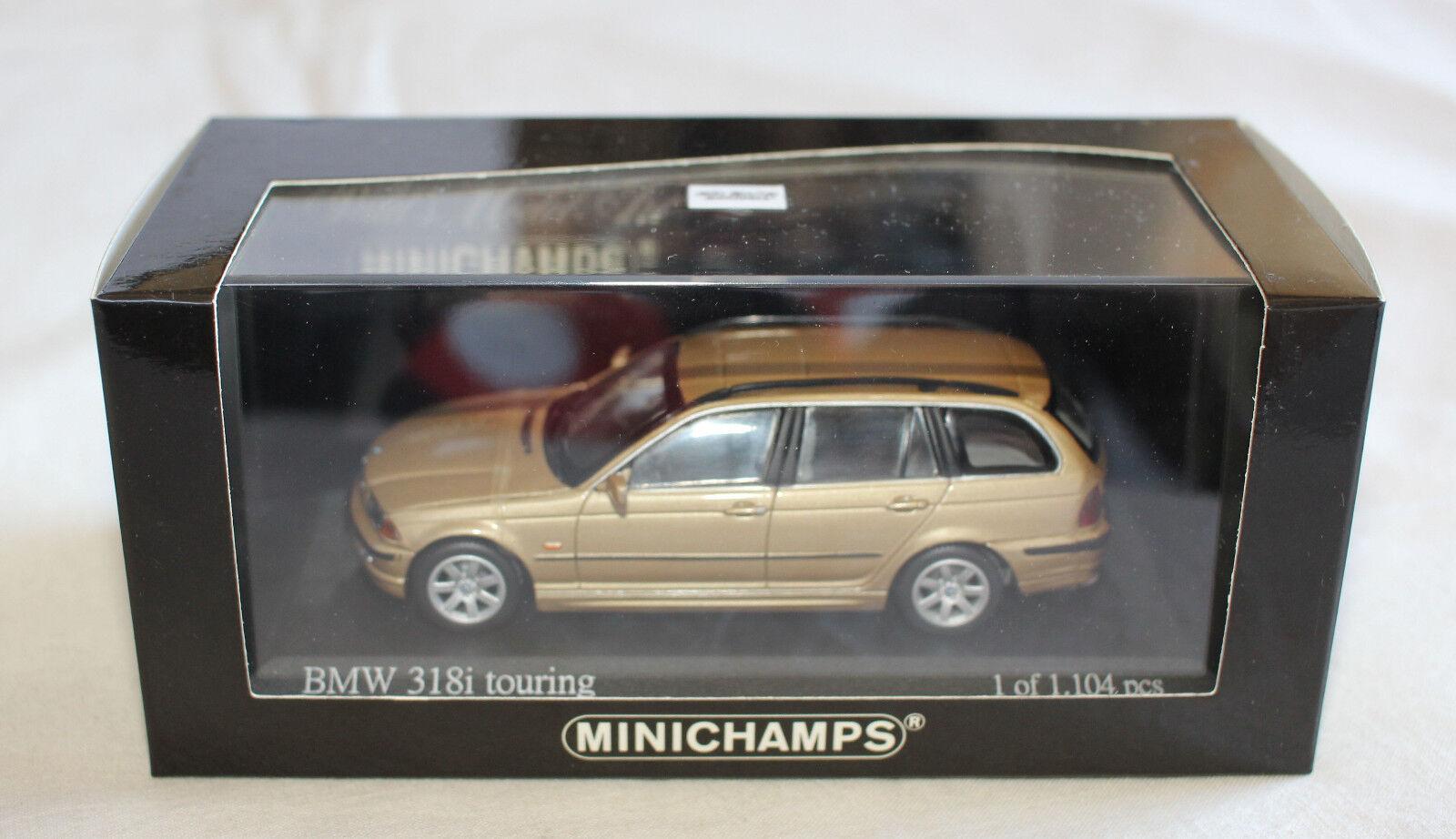 Minichamps 431028314 BMW E46 1999 318i Touring Wagon gold Metallic 1 43