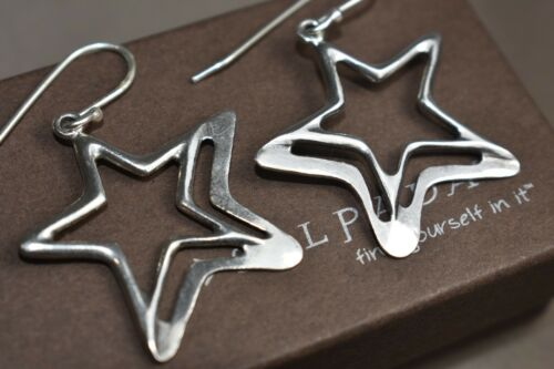 Sterling Silver SILPADA Wish Upon A Star Dangle Earrings  W1403 Retired .925