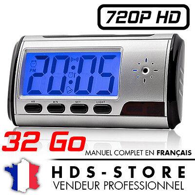 REVEIL CAMERA ESPION HD 720P + 32 GO KINGSTON DETECTION DE MOUVEMENTS 1280X720