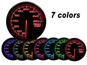 52mm-Transmission-Trans-Temp-Gauge-Kit-7-COLOR-LED-Electrical-Peak-Smoke-Lens