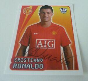 Merlin Premier League 2008 RONALDO Man United sticker # 383 Mint