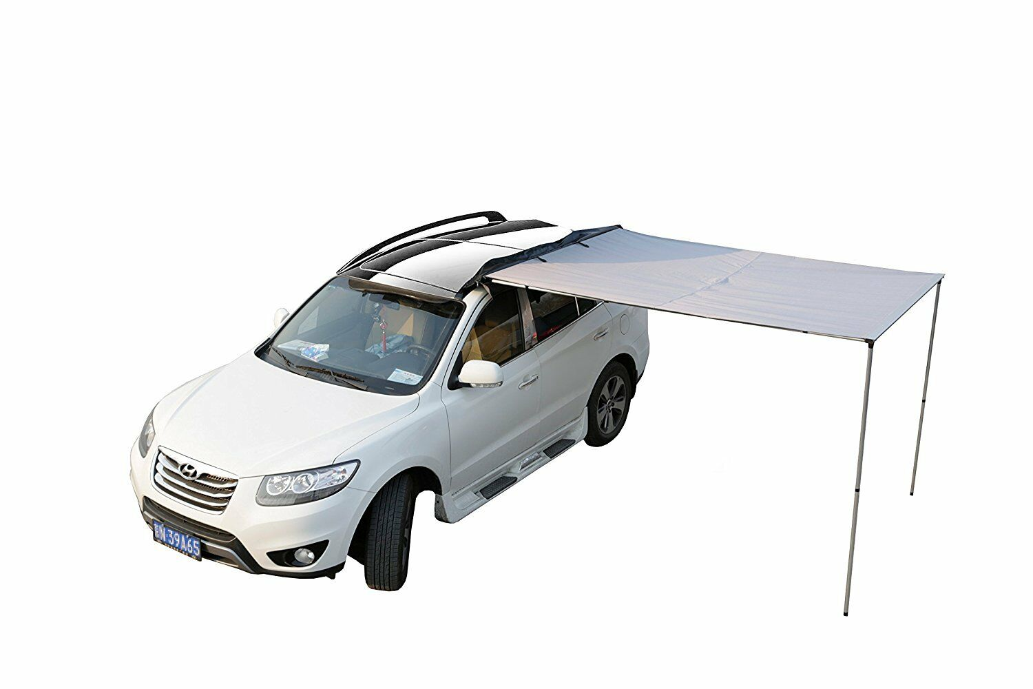 Nieuwe 2x2.5M Auto Side Awning Roof Top Tent Oxford Sun Shade Shelte Auto Tent kudde