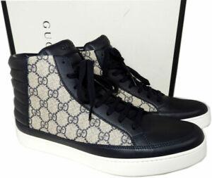 skate shoes top fashion detailed pictures Détails sur Gucci Homme Common Supreme Montante Baskets Chaussures Cuir  Noir 9 Uk- 10 US