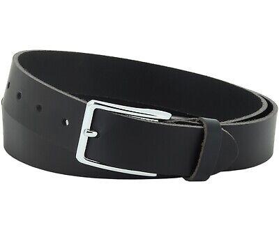 Begeistert Büffel Ledergürtel 3,5 Cm Herren Damen Belt Echt Voll Leder Gürtel Schwarz Nr.10