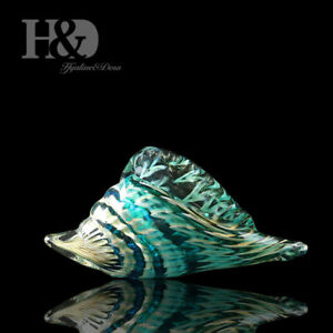 Hand-Blown-Glass-Murano-Art-Style-Seashell-Conch-Sculpture-Christmas-Gift-Decor