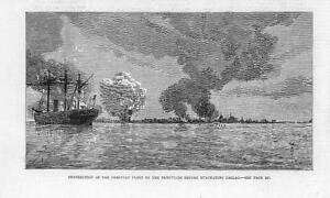 1881-Antique-Print-SOUTH-AMERICA-PERU-CALLAO-evacuation-destruction-fleet-43