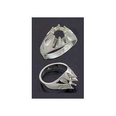 (8mm - 10mm) Round Gypsy .925 Sterling Silver Ring Setting (Ring Size 9,10,11)