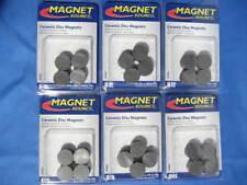 Magnet Source 07003 Six 8 Packs 34 X 316 Ceramic Disc Magnets