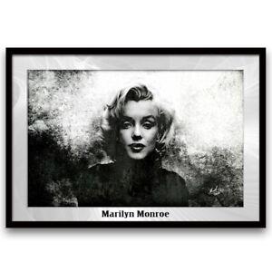marilyn monroe schwarz wei bilder leinwand wandbild kunst abstrakt xxl 1033a ebay. Black Bedroom Furniture Sets. Home Design Ideas