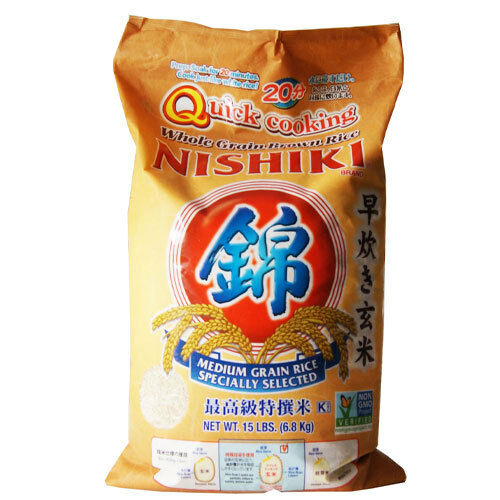 Nishiki Quick Cooking Whole Grain Brown Rice 6.8 Kg for