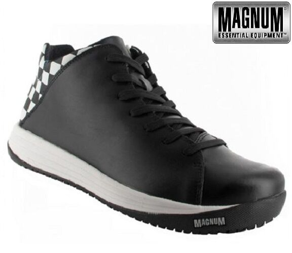 MENS MAGNUM LEATHER WATERPROOF MEDICAL NURSES CHEFS WAITERS SHOE TRAINER BOOTS S