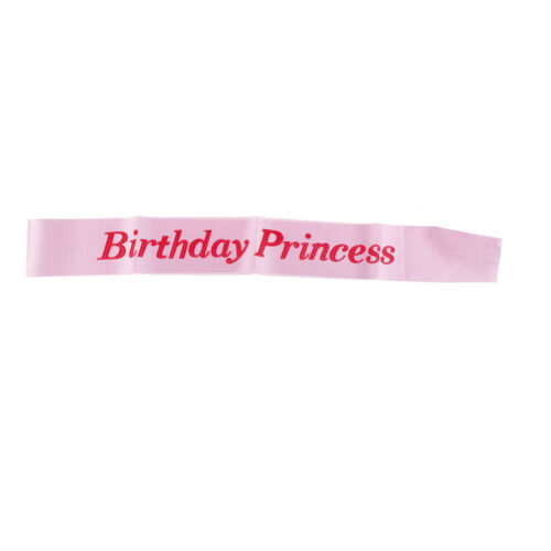 Anniversaire ruban Princesse filles sashes Fête D/'anniversaire Filles Nuit souvenir ^ P