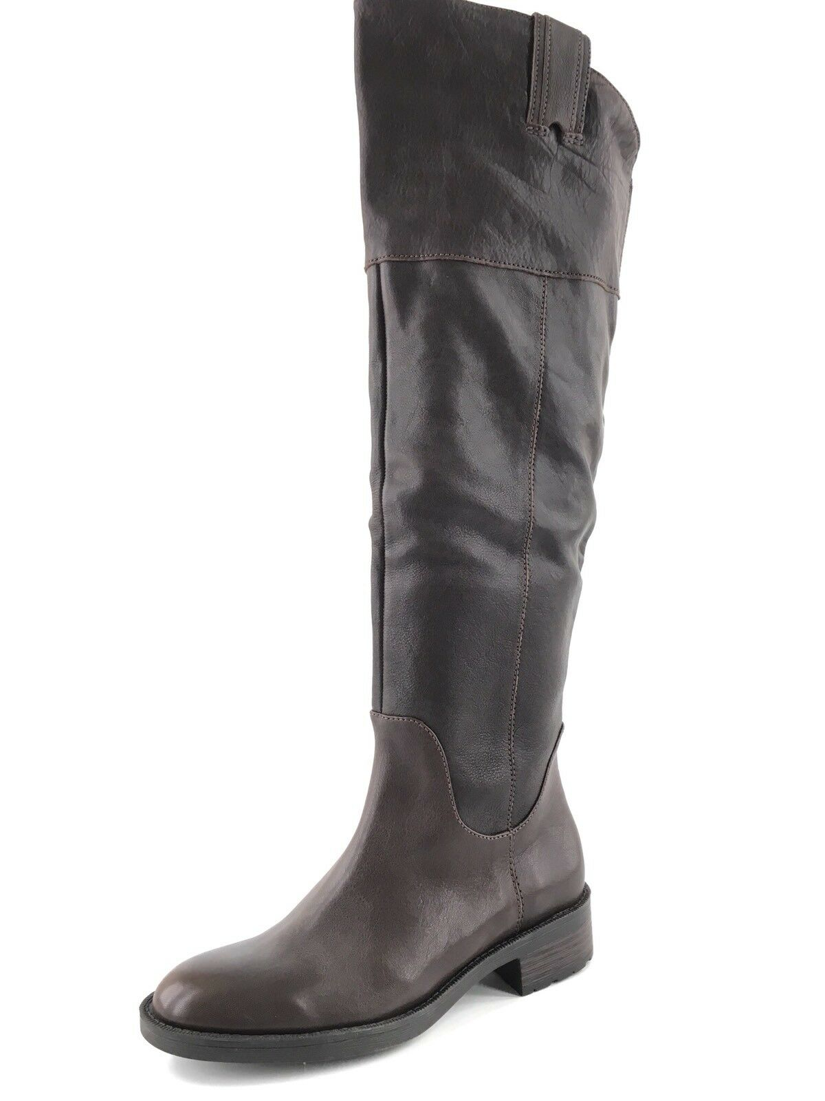 Enzo Angiolini Holdyn Brown Leather Over TheKnee Boots Women's Size 5.5 M