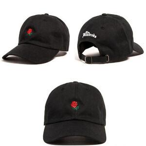 The Hundreds Dad Hat Flower Rose Embroidered Curved Brim Baseball Cap Visor Hat