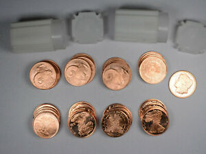 Lot of 20-1 oz Copper Rounds Walking Liberty