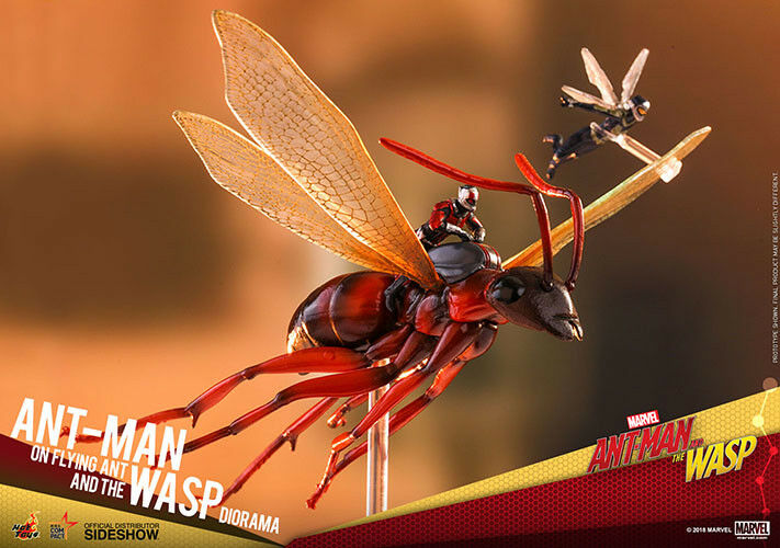 Ant-Man 6 Inch Statue Figure MMS - Ant-Man on Flying Ant and the Wasp Hot Toys