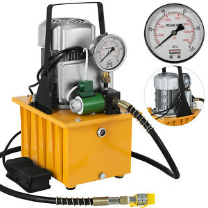 Electric-Driven-Hydraulic-Pump-Single-Acting-Solenoid-Valve-Pedal-Switch-7L-110V